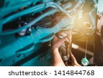 the technician changed the... | Shutterstock . vector #1414844768