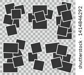 set of square vector photo... | Shutterstock .eps vector #1414846292