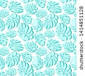 tropical seamless pattern.... | Shutterstock . vector #1414851128