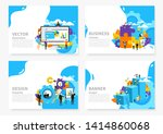 brochure. the man behind the... | Shutterstock .eps vector #1414860068