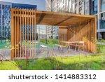 wooden arbor. modern wooden... | Shutterstock . vector #1414883312