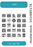 end icon set. 25 filled end... | Shutterstock .eps vector #1414885178