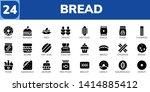 bread icon set. 24 filled bread ... | Shutterstock .eps vector #1414885412
