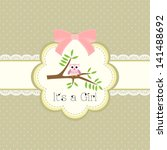 baby shower card for baby girl  ... | Shutterstock .eps vector #141488692