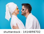 photo on side of man and woman... | Shutterstock . vector #1414898702