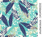 tropical seamless pattern with... | Shutterstock .eps vector #1414900232