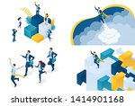 set isometric concept of... | Shutterstock .eps vector #1414901168