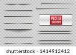 vector shadows isolated.... | Shutterstock .eps vector #1414912412