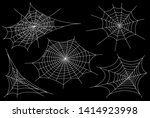 collection of cobweb  isolated... | Shutterstock . vector #1414923998