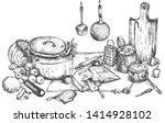 vector illustration of kitchen... | Shutterstock .eps vector #1414928102