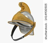 French Cuirassier Heavy Cavalry Officer Helmet Isolated 3D Illustration