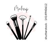 makeup banner with brushes ...   Shutterstock .eps vector #1414940612