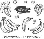vector illustration of banana... | Shutterstock .eps vector #1414943522