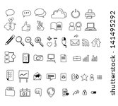 hand drawing web icon doodle... | Shutterstock .eps vector #141495292