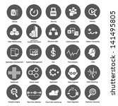 big data icons set for business ... | Shutterstock .eps vector #141495805