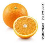 whole ripe orange citrus fruit... | Shutterstock . vector #1414958615