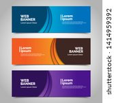abstract vector banners.modern... | Shutterstock .eps vector #1414959392
