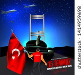 15 july day turkey. translation ...   Shutterstock .eps vector #1414959698