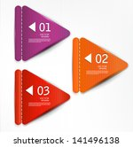 set of bookmarks  stickers ... | Shutterstock .eps vector #141496138