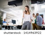 collaboration and analysis by... | Shutterstock . vector #1414963922