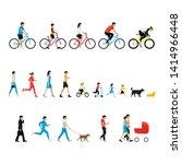 people set. walk person ... | Shutterstock .eps vector #1414966448