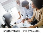successful group of business...   Shutterstock . vector #1414969688