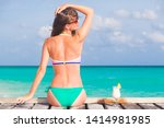 pretty longhaired woman with... | Shutterstock . vector #1414981985
