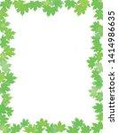 summer season  green leaves... | Shutterstock .eps vector #1414986635