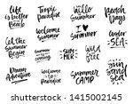 summer brush lettering... | Shutterstock .eps vector #1415002145
