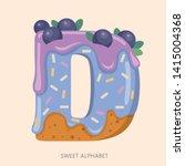 Cartoon Candy Alphabet. Letter...