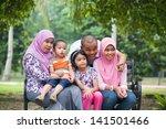 happy malay asian family... | Shutterstock . vector #141501466