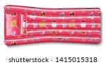 inflatable rubber mattress pink ... | Shutterstock .eps vector #1415015318
