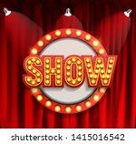 realistic show announcement...   Shutterstock .eps vector #1415016542