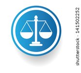 scales of justice sign vector | Shutterstock .eps vector #141502252