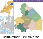 drenthe is a province of the... | Shutterstock .eps vector #1415025755