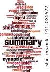 summary word cloud concept.... | Shutterstock .eps vector #1415035922