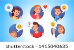 collection of character faces... | Shutterstock .eps vector #1415040635
