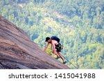 Man Climing Yonah Mountain In...