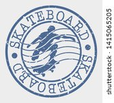 skateboard stamp. urban sport... | Shutterstock .eps vector #1415065205