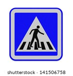 crosswalk sign with a man... | Shutterstock . vector #141506758