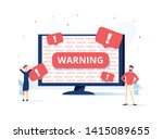 pc error and warnings for users.... | Shutterstock .eps vector #1415089655