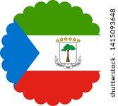 equatorial guinea flag... | Shutterstock .eps vector #1415093648