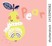 cute pear design for baby | Shutterstock . vector #1415098382