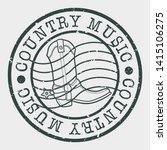 conutry music stamp. dance boot ... | Shutterstock .eps vector #1415106275