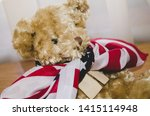 Little Teddy Bear With Usa Fla...