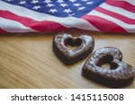 Two Heart Shaped Biscuits And...