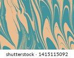 fluid art puzzle. marbleized... | Shutterstock .eps vector #1415115092
