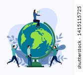 earth day with world  eco... | Shutterstock .eps vector #1415115725