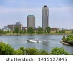 arakawa and sumida river...   Shutterstock . vector #1415127845