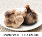 garlic that has been aged for a ...   Shutterstock . vector #1415128688